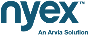 Nyex logo with strapline size 300 pixels wide