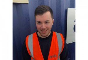 Callum Campbell - an apprentice at Arvia